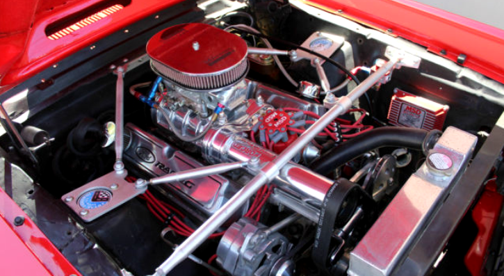 viper red 1966 ford mustang custom built