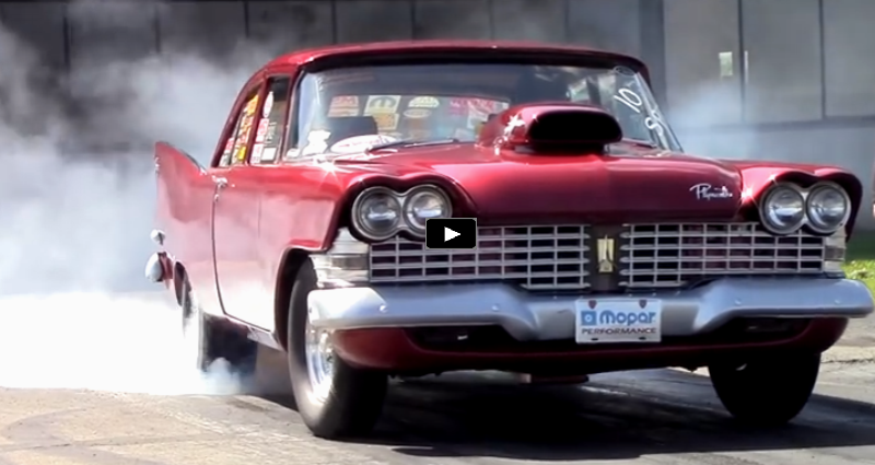1966 plymouth savoy drag racing at mopar nationals