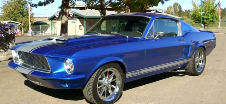 acapulco blue 1967 mustang fastback gt390