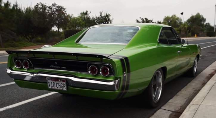 custom built 1968 dodge charger in envy green