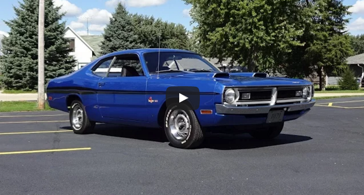 all original 1971 dodge demon 340 in details