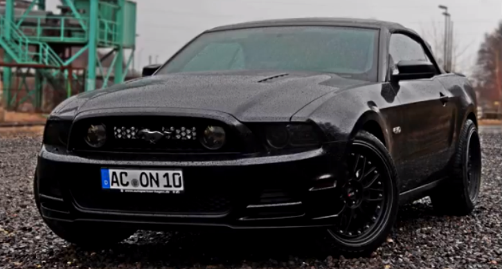cammed blacked out mustang gt 5.0 coyote v8 sound