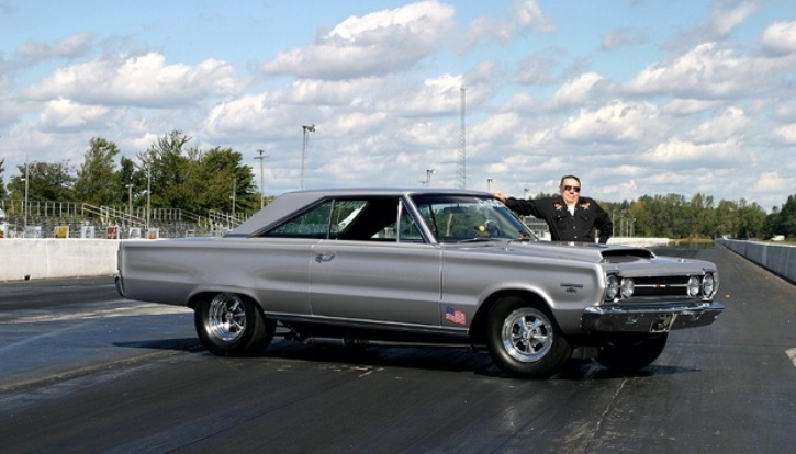 hemi powered 1967 plymouth gtx silver bullet