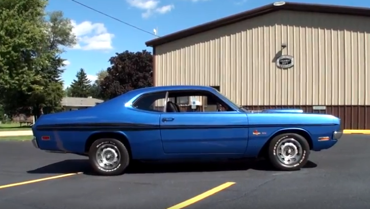 b5 blue 1971 dodge demon 340 in top condition