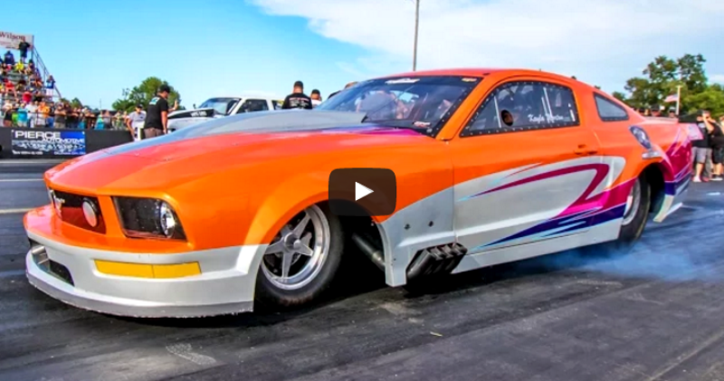 procharged big block ford mustang drag racing outlaw armageddon