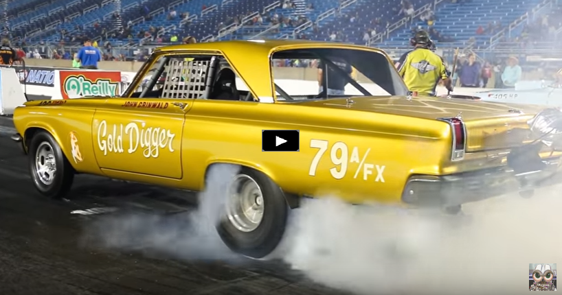 1965 dodge hemi coronet gold digger drag racing