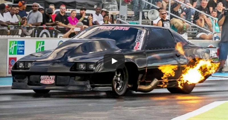 street outlaws shocker camaro wheelie