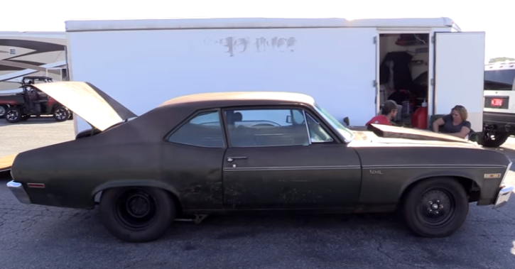 twin turbocharged chevrolet nova sleeper street car takeover