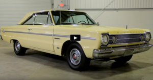 soft yellow 1966 plymouth belvedere II 426 hemi 4 speed