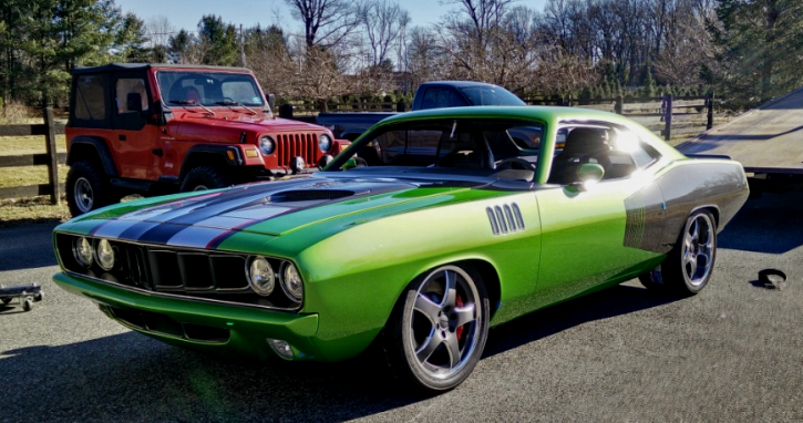 pro touring 1971 plymouth barracuda viper cuda