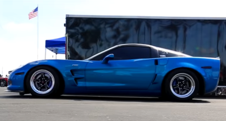 blue devil zr1 corvette video