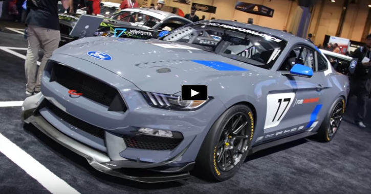ford mustang gt4 race car overview