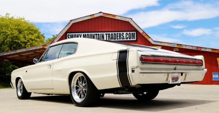white 1966 dodge charger rt restomod