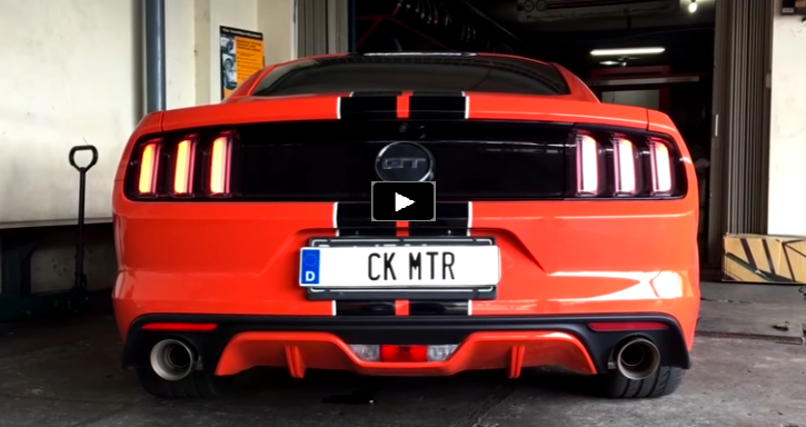s550 mustang gt 302 v8 custom straight pipe exhaust sound