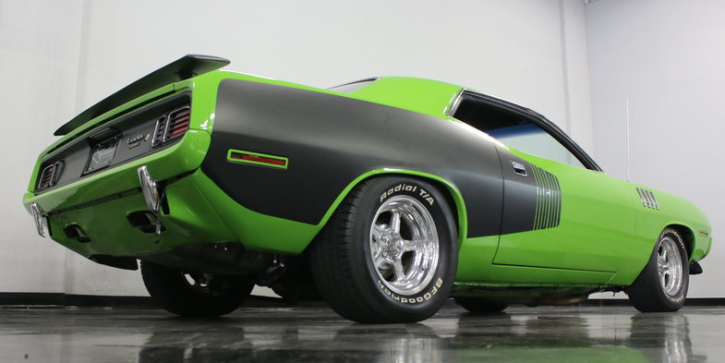 sublime green hemi cuda tribute