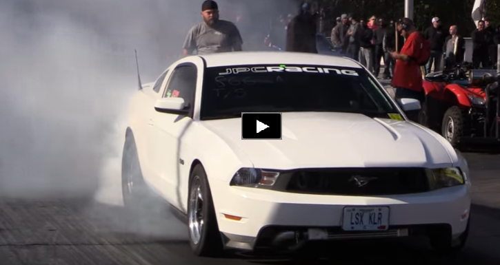 turbocharged mustang lsx klr drag racing