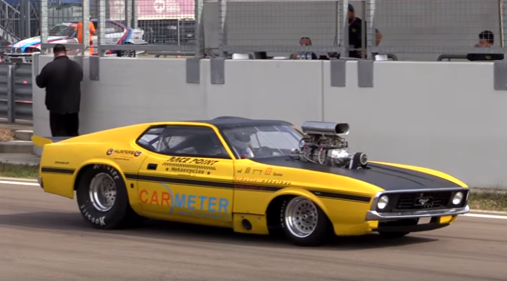 1300hp ford mustang mach 1 drag racing