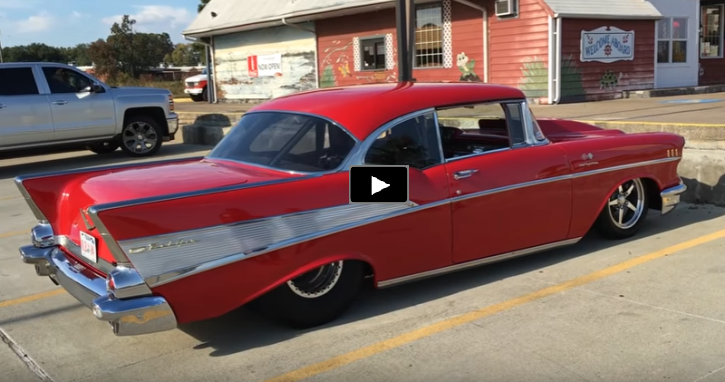 Super Clean 1957 Chevy Bel Air Pro Street Build | HOT CARS