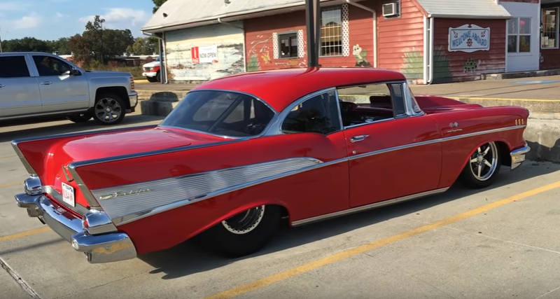 1957 chevy bel air pro street build