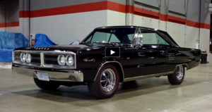 black hemi powered 1966 dodge coronet