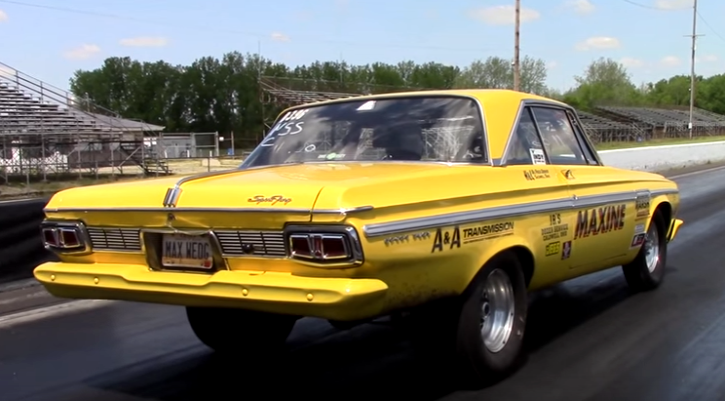 plymouth sport fury maxine drag racing