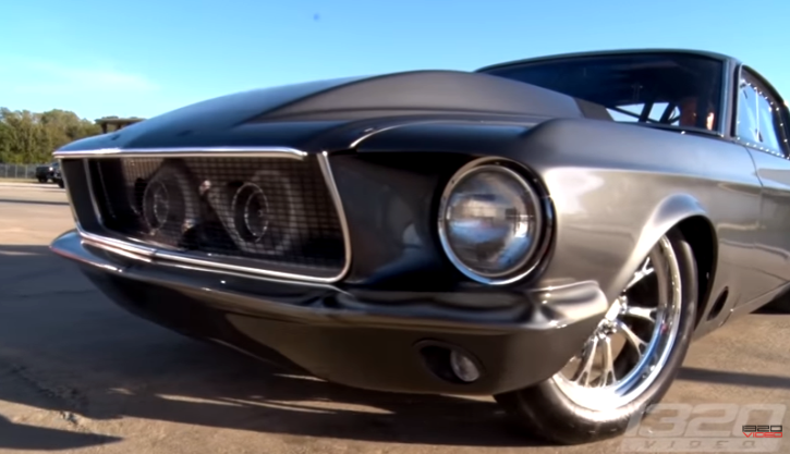 twin turbo 1967 mustang helleanor