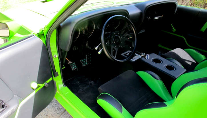 modified 1969 mustang mach 1 green stealth