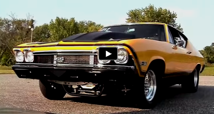 1968 chevy chevelle all motor drag racing