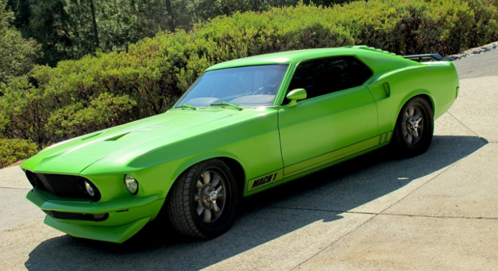 sublime green 1969 mustang by dark horse customs