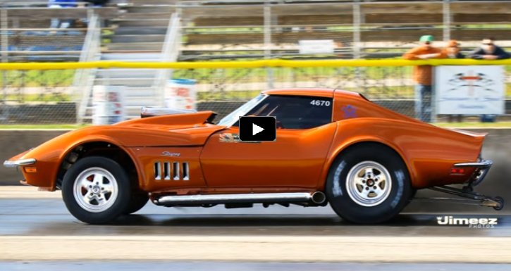 5.9 cummins powered stingray corvette drag racing