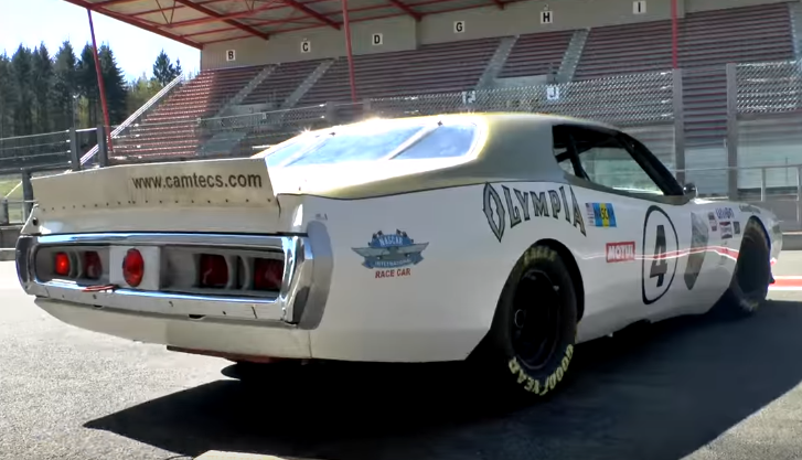 nascar olympia dodge charger track footage