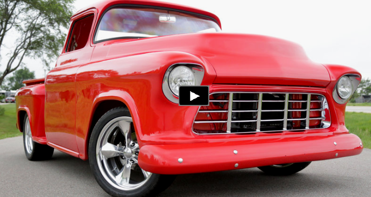 custom built 1955 chevy pick up
