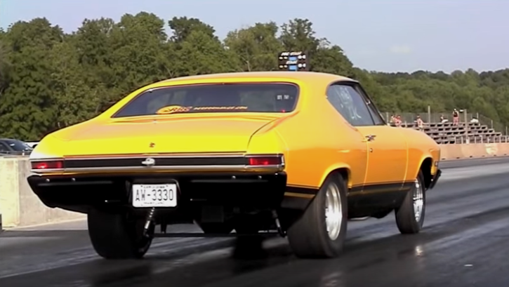 9 second big block 1968 chevy chevelle drag racing
