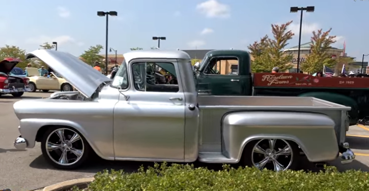 customized chevrolet apache pick up truck