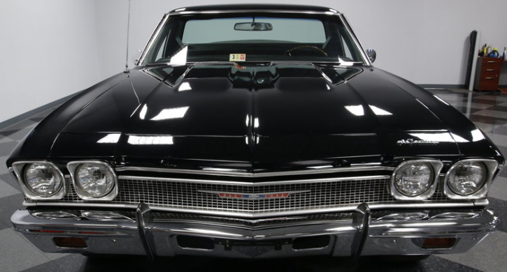 black 1968 chevrolet el camino big block