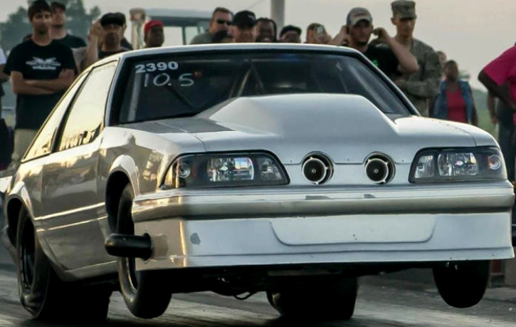 steve grebeck built fox body mustang drag racing