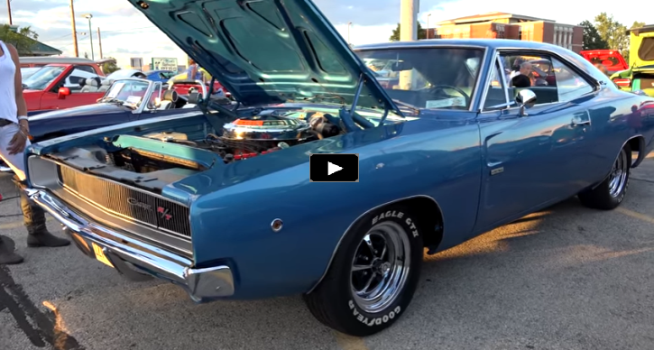 b5 blue 1968 dodge charger 426 hemi 4-speed
