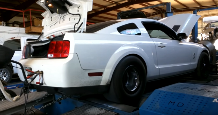 shelby mike racing twin turbocharged mustang gt500