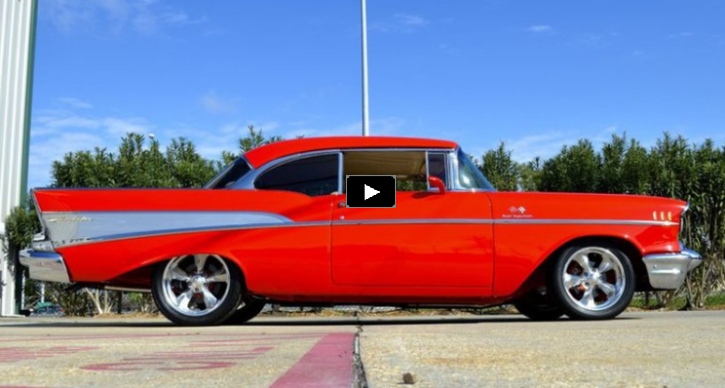 custom built chevrolet belair in viper red