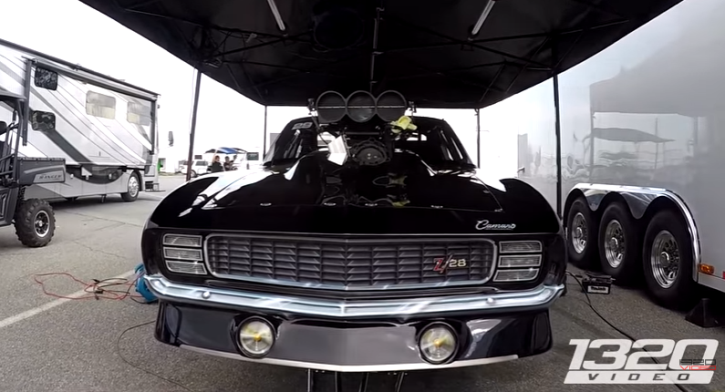 barry mitchell 1969 camaro drag racing lights out 8