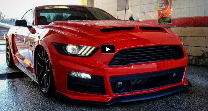 Highly Modified 2015 Mustang Gt Red Awesomeness Hot Cars