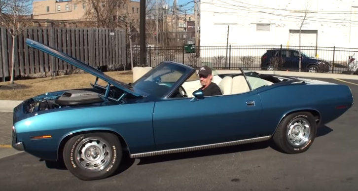 original 1970 plymouth cuda convertible in jamaican blue