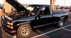 turbo short bed chevy truck drag racing