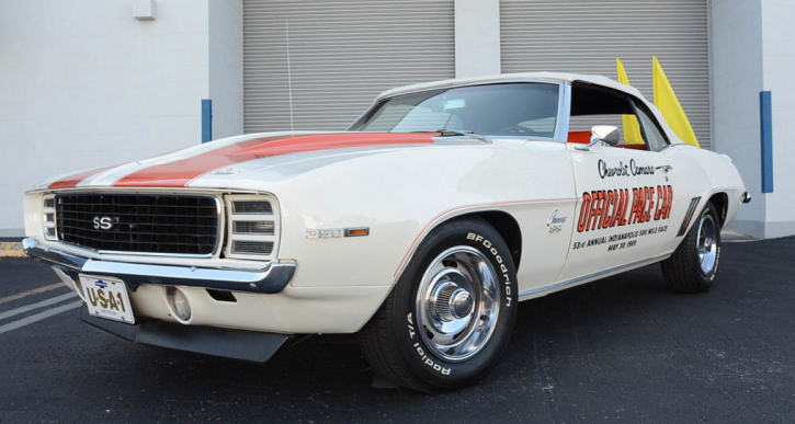 convertible 1969 camaro rs ss pace car