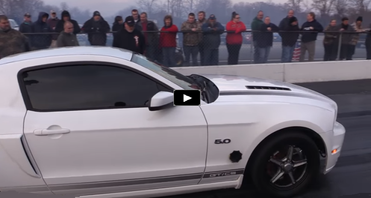 twin turbo coyote vs ls fox body mustangs drag racing
