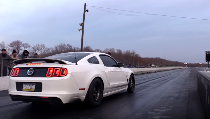 out in front coyote mustang gt drag racing