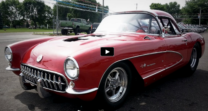 10 second 1957 gnarly corvette 427 v8