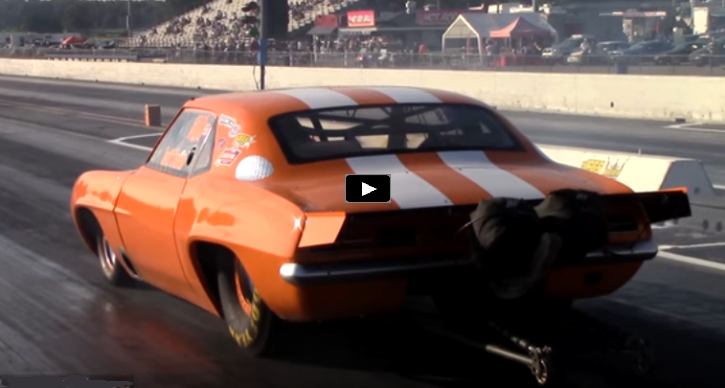 8 second 1st generation chevy camaro z28 big tore drag racing