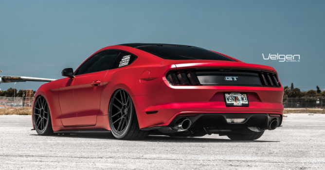 matte red s550 ford mustang gt