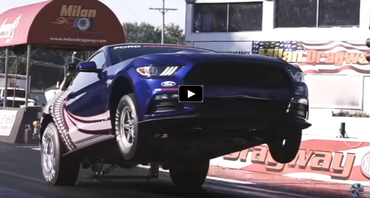 2016 mustang cobra jet track footage